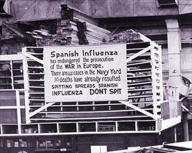 Peak of the flu pandemic in 1918