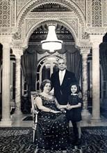 Portrait officiel de la famille Bourguiba vers 1966