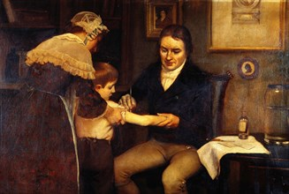 Edward Jenner Vaccinating Child, c.1796