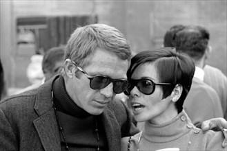 "Studio Publicity Still from ""Bullitt""  Steve McQueen, Neile Adams  1968 Solar Productions   File Reference # 32914_040THA"