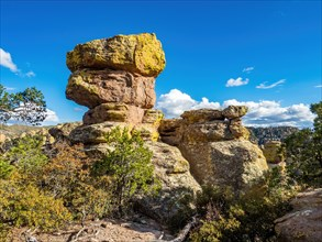 hiking through the rock formations at Chiricahua National Monument park