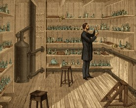 Louis Pasteur in Hot Room, 1884