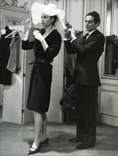 PIERRE CARDIN - French fashion designer at his Paris salon about 1970