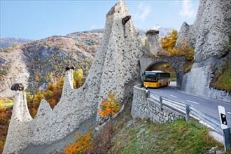 The earth pyramids of Euseigne, Valais, Switzerland