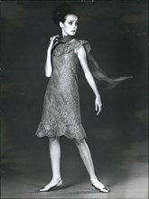 Mar. 03, 1965 - Introducing Cardin's New Dress For Cocktail Parties: Pierre Cardin, The Famous Paris Couturier, Has Designed This Dress In Fine Lace For Cocktail Parties.