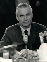 Apr. 11, 1974 - Jacques Chaban-Delmas ate his breakfast at France-International this morning and answered Philippe Gildas's questions about his candidacy for President of France.