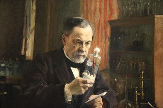 Louis Pasteur. Portrait, 1885 by painter Albert Edelfelt (1854-1905). Oil on canvas. Orsay Museum. Paris. France.