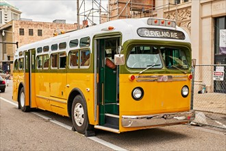 Replica of the Rosa Park's bus she was arrested from during the civil rights struggles in the 1960s in Montgomery Alabama, USA.