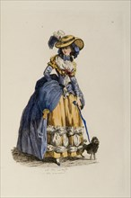 Femme à la mode du 18e siècle