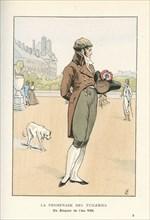 La promenade des Tuileries, un élégant de l'an VIII (1800)