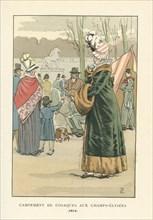 Campement de cosaques aux Champs-Elysées, 1814