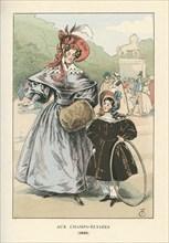 Un coin du boulevard des Italiens, 1833