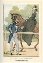 La fashion au bois de Boulogne, l'allée des cavaliers, 1842