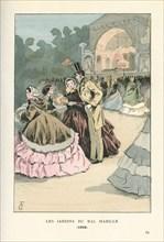 Les jardins du bal Mabille, 1858