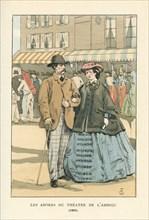 Les abords du théâtre de l'ambigü, 1861