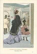 Autour d'un bureau d'omnibus, Palais-Royal, 1875