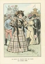 Le jour du Grand Prix de Paris, les courses, 1895