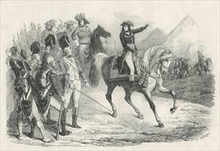 Bonaparte devant les pyramides de Gizeh