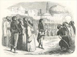 Bonaparte reçu par les Mamelouks au Caire (24 juillet 1798)