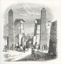 L'armée de Bonaparte visite les ruines de Thèbes (1798)