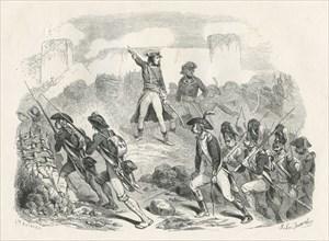 Bonaparte et Kléber assiègent la ville de Ptolémaïs
