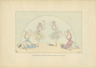 Les Eléments, tableau vivant représenté au bal de l'Hôtel d'Albe, sous le Second Empire