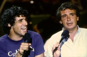 Julien Clerc et Michel Sardou, 1985