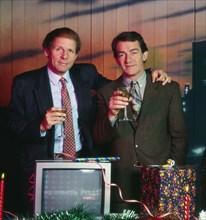 Patrick Poivre d'Arvor et Jean-Pierre Pernaut, 1990