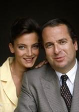 Paul-Loup Sulitzer et sa femme Alejandra, 1989
