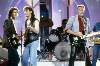 Jean-Jacques Goldman, Michael Jones, Johnny Hallyday, 1986