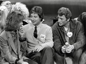 Nathalie Baye, Patrick Sabatier, Johnny Hallyday, 1986