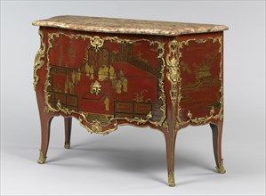Commode; Bernard II van Risenburgh, French, after 1696 - about 1766, master before 1730, Paris, France; about 1740; Oak set