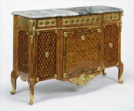 Commode; Jean-François Oeben, French, born Germany, 1721 - 1763, master 1761), Paris, France; about 1760; Oak veneered with