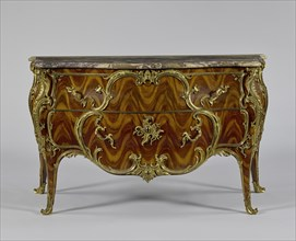 Commode; Attributed to Jean-Pierre Latz, French, about 1691 - 1754, Paris, France; about 1745–1749; Oak and poplar veneered