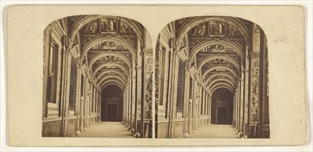 Les Loges de Raphael au Vatican; Italian; about 1870; Albumen silver print