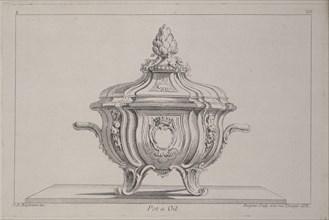 Pot a oil, Ornament Prints Collection, Oeuvre de Juste Aurele Meissonnier peintre sculpteur architecte andc. dessinateur