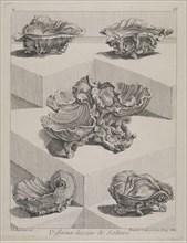 Differents desseins de sallieres, Ornament Prints Collection, Oeuvre de Juste Aurele Meissonnier peintre sculpteur architecte