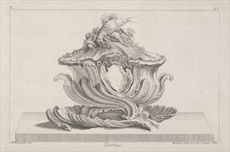 Terrine, Ornament Prints Collection, Oeuvre de Juste Aurele Meissonnier peintre sculpteur architecte andc. dessinateur