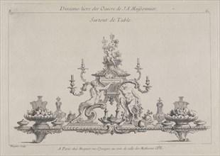 Surtout de table, Ornament Prints Collection, Oeuvre de Juste Aurele Meissonnier peintre sculpteur architecte andc. dessinateur