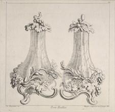 Porte huillier, Ornament Prints Collection, Oeuvre de Juste Aurele Meissonnier peintre sculpteur architecte andc. dessinateur