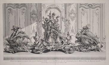 Projet de sculpture en argent d'un grand surtout de table et les deux terrines qui ont eté executée pour le millord duc de