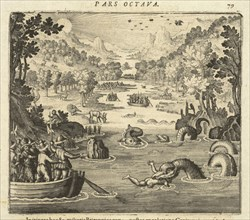 Serpent attack, Americae pars VIII.: continens primo, descriptionem trivm itinervm nobilissimi et fortissimi equitis Francisci