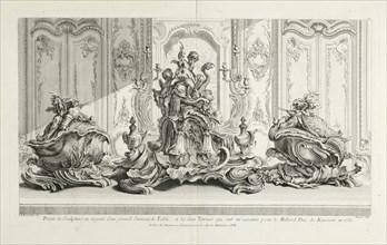 Projet de sculpture en argent d'un grand surtout de table, Oeuvre de Juste Aurele Meissonnier peintre sculpteur architecte andc