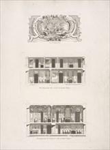 Developements du second et troisieme etage, Developement de l'entresol et du premier etage, Cartouche, Developements du second