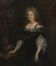 David van der Plaes (Amsterdam 1647 - Amsterdam 1704), Portrait of Margaretha Raephorst (1625-1690), portrait painting footage