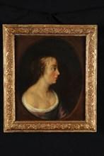 Samuel van Hoogstraten (?), Portrait of Geertruyd van der Hey, portrait painting footage wood oil, Standing rectangular portrait