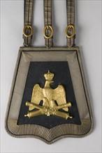 Sabretache de grande tenue d'officier d'artillerie de la Garde impériale