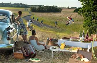 """Pique-nique """"Tour de France"""", idée de mise en scène"""