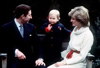 Prince William, prince Charles et princesse Diana