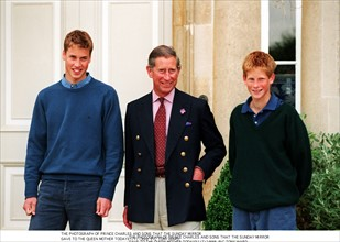 Prince William, prince Charles et prince Harry